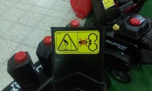 Naklejki ostrzegawcze