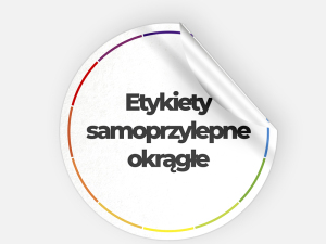 Etykiety samoprzylepne okrągłe