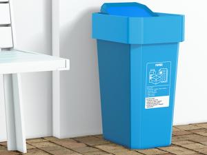 Naklejki na kosze do segregacji śmieci