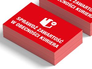 Papierowe etykiety ostrzegawcze