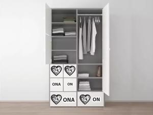 Naklejki na szafy
